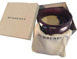 Burberry Carved Leather Belt