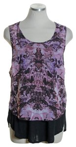 Bar III Sleeveless Printed Top Purple Multi