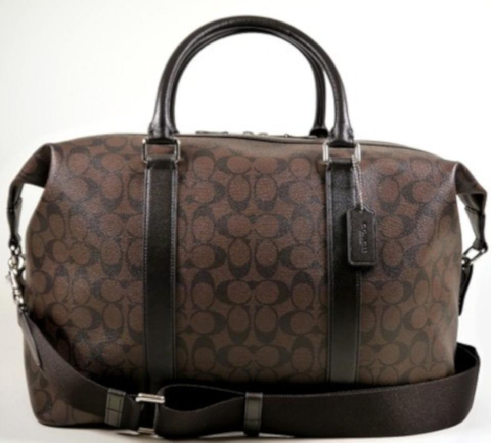 Coach Unisex Duffle In Signature (F93456) Brown Canvas Weekend Travel Bag -  Tradesy 5f6a6293b4a48