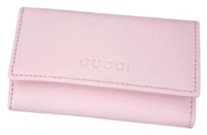 Gucci New Authenitc GUCCI Leather Key Chain/ Holder BABY PINK w/Box