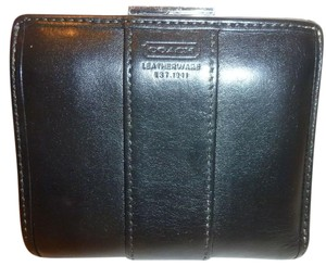 Coach Black Leather Folding Wallet