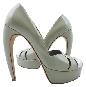 Walter Steiger Claw Patent Peep GRAY Pumps