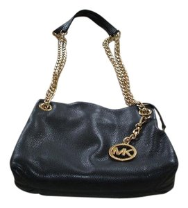 Michael Kors Pebble Leather Chain Link Shoulder Bag