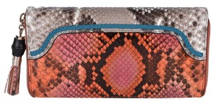 Gucci Gucci Women's 307984 Ombre Python Snakeskin Bamboo Pull Wallet