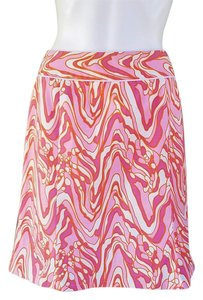 Etcetera Stretch Canvas A-line Skirt Pink