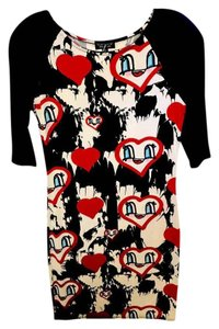 Topshop short dress Multi Body Con Graphics Print Pattern Edgy on Tradesy