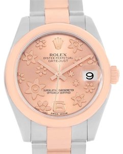 Rolex Rolex Datejust Midsize Steel Rose Gold Pink Floral Dial Watch 178271