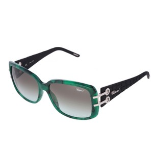 Chopard Chopard SCH 108 Women Rectangular Emerald Green Sunglasses