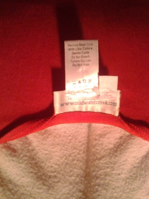 Coldwater Creek Travel Knit 1x 16w 18w' Machine Washable Top Deep Salmon