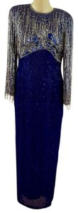 Oleg Cassini Beaded Gown Sequin Gown Maxi Gown Vintage Gown Dress