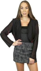 SAM. Vintage Metallic Open Shimmer Sparkle Red, Black Blazer