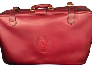 Cartier Bordeaux with gold accents Travel Bag