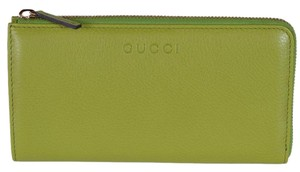 Gucci Gucci Women's 332747 Apple Green Leather Zip Around Wallet