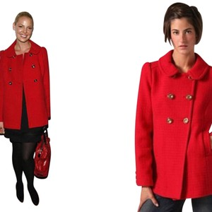 Juicy Couture Peter Pan Collar Pea Coat