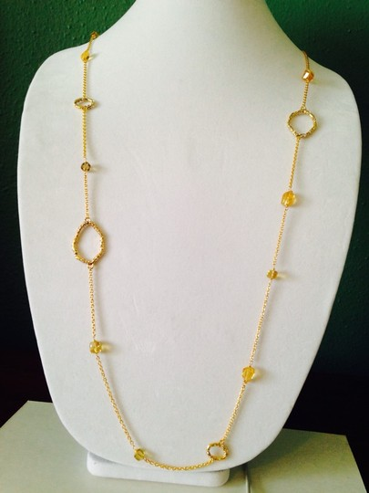 Alexis Bittar 'Delano ' Long Station Faceted Citrine Necklace