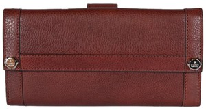 Gucci Gucci Women's 231839 Incas Red Leather Continental Wallet Clutch