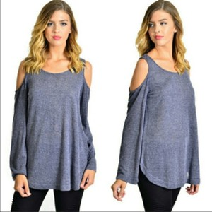 Fashionomics Top Blue/Grey