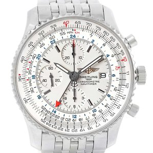 Breitling Breitling Navitimer World Silver Dial Steel Mens Watch A24322