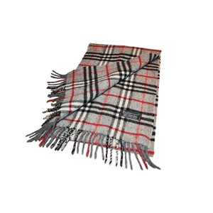 Burberry New Without Tags Burberry Grey Nova Check Plaid Scarf Retail $495