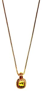 David Yurman Petite Albion Peridot Pendant Necklace