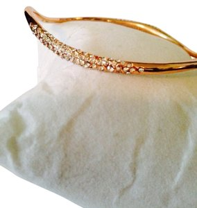 Alexis Bittar Miss Havisham Pave Rose gold Bangle With Pouch