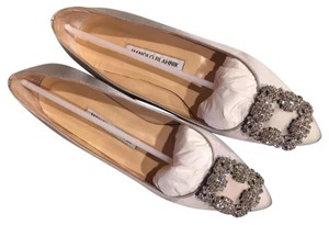 Manolo Blahnik Light Grey Flats
