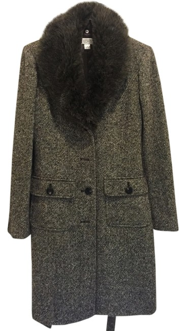 Ann Taylor LOFT Wool Tweed Trench Coat