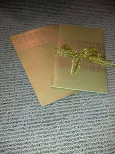 Gold 136 Envelopes and Card Holders