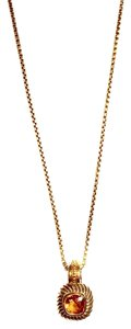 David Yurman Petite Albion Citrine Pendant Necklace