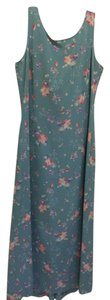 Blue Maxi Dress by Laura Ashley Spring Sheath Silk