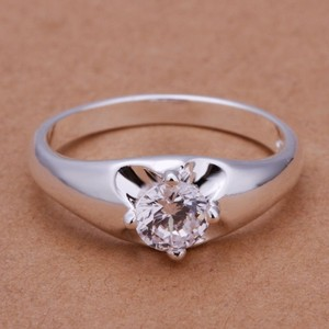 1/4ct White Zircon Promise Engagement Ring Free Shipping