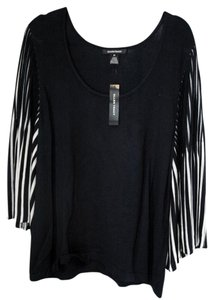Ellen Tracy Angel Sleeves Top Black