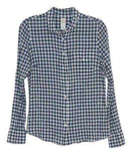 J.Crew Button Down Shirt Blue/white