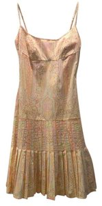 Gianni Bini short dress Yellow pink green on Tradesy