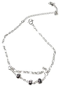Other New Sterling Silver Filled Round Ball Charm Anklet 10-11 in. J3110