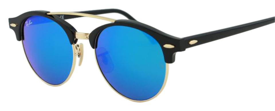 8106f11c0d Ray-Ban Ray-Ban Clubround Double Bridge RB4346 901 17 Blue Mirror Sunglasses  ...