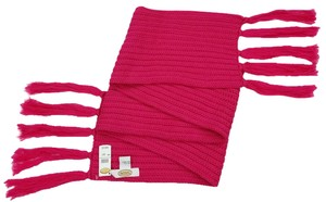 Talbots Soft Talbots Wool-Acrylic Blend Scarf Fringe 60 inches Pink