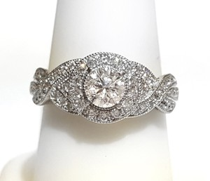 Neil Lane Gorgeous Neil Lane White Gold Diamond Halo Engagement Ring