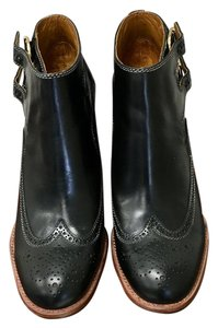 See by Chloé Chloe Wing Tip Buckle Leather Black Boots