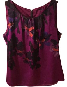 Elie Tahari Top purple, black