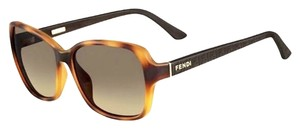 Fendi FENDI Torti Sunnies w Gold Accents & Logo Arms