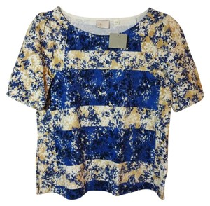 Anthropologie Cheerful Happy T Shirt Blue