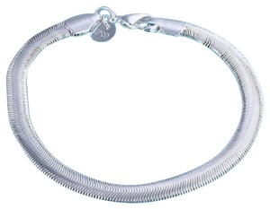 Other New 925 Sterling Silver Lovely Flat Soft Snake Bone Chain Bracelet 6mm