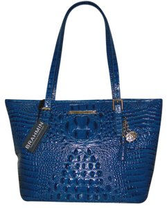 Brahmin Asher Leather Medium L15151 Tote in Teal