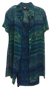 Bila short dress Blue/Green Nwot Summer on Tradesy
