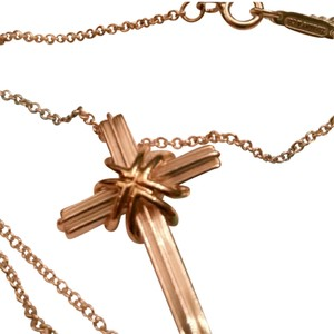 Tiffany & Co. Tiffany & Co. Sterling Silver & Gold Cross Pendant with SS necklace