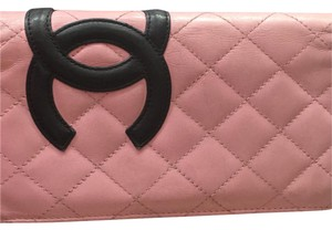 Chanel Chanel Cambon CC Pink long wallet