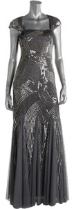 Adrianna Papell Sequin Mesh Beaded Dress