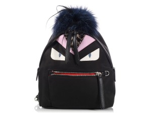Fendi Fi.k1207.03 Nylon Fur Mini Leather Backpack