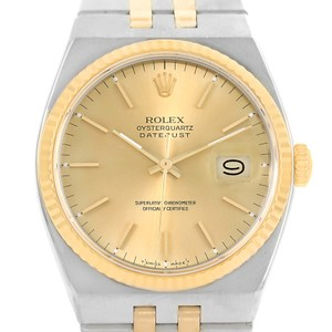 Rolex Rolex Oysterquartz Datejust Steel 18K Yellow Gold Mens Watch 17013